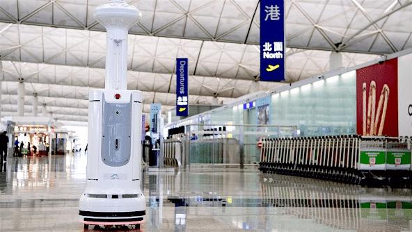 香港国際空港での使用例